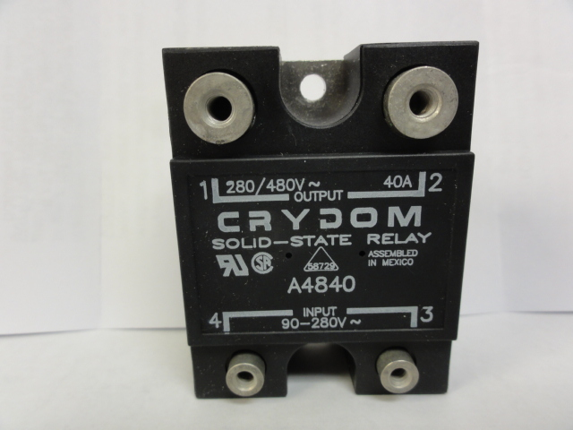 Crydom Relay A4840 Relay, Solid State, Panel Mount, 40 Amps, 90-280 Vdc