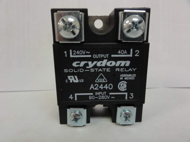 Crydom Relay A2440 Relay, Solid State, Panel Mount, 40 Amps, 90-280 Vdc