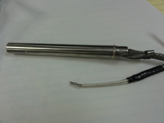 ".50"" Diameter X 5"" 120v 500w 14"" Stainless Steel Braid Leads"