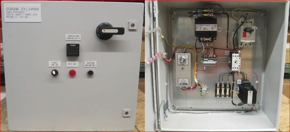 076756 SUREHEAT MAX/MAX HT CONTROL PANEL 480V 3P 60A 60Hz