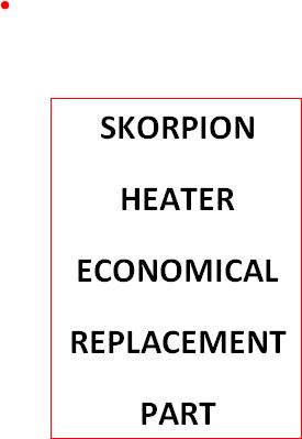 205614 REPLACEMENT HEATER ELEMENT FOR Sylvania Skorpion 076008 Air Heater-4500 Watts 230 Volt Single Phase