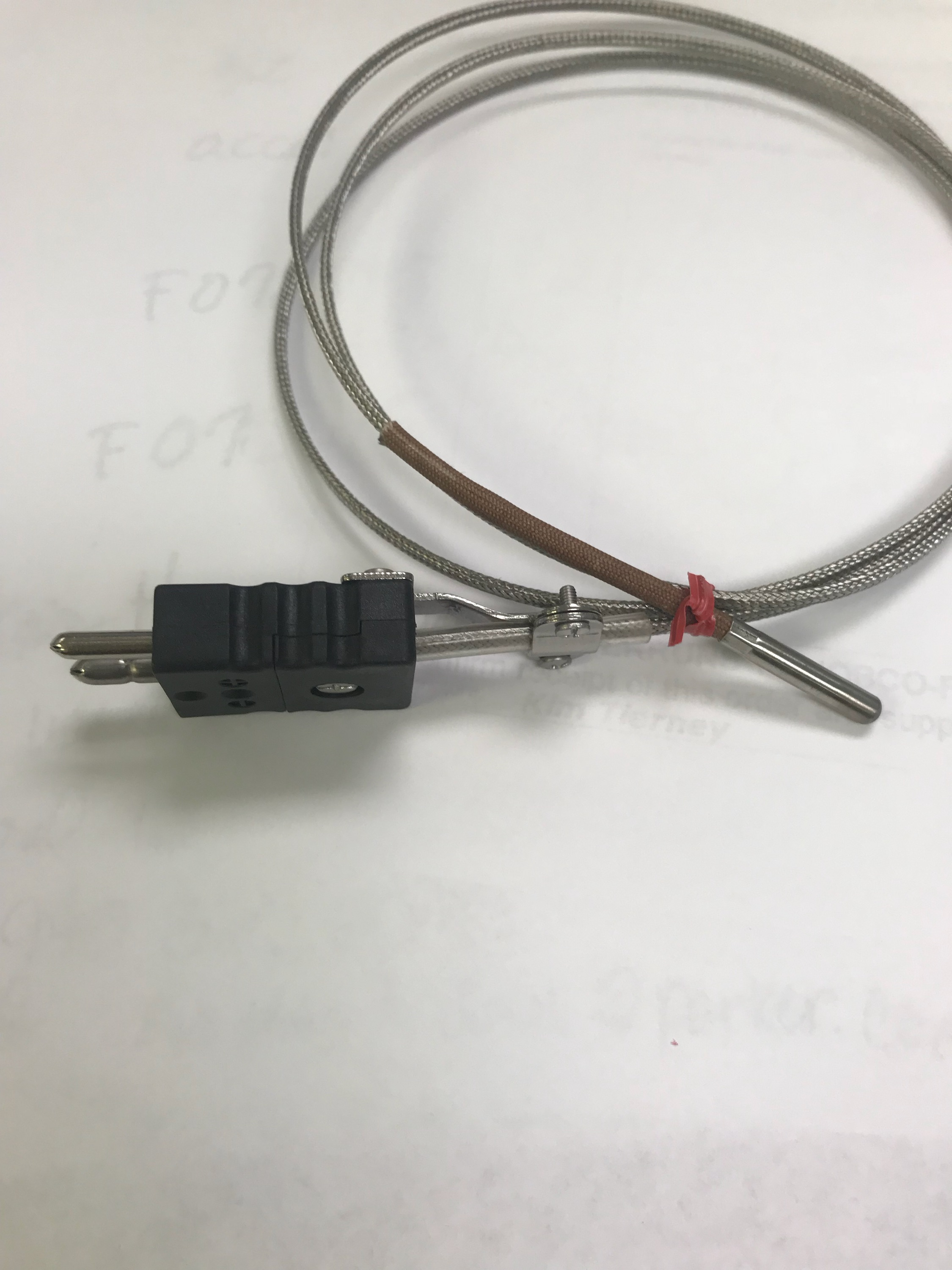 Thermocouple 25634 Two Pin Plug 48 inches long